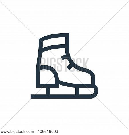 ice skating shoes icon isolated on white background from holland collection. ice skating shoes icon