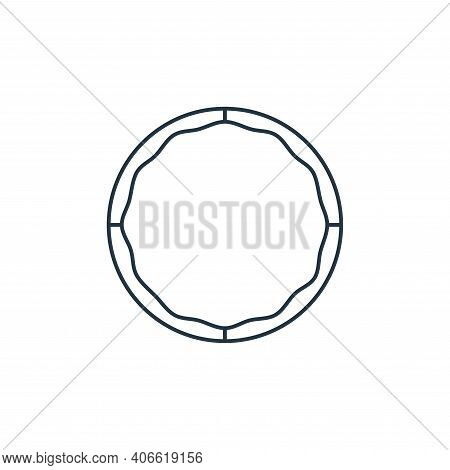 hula hoop icon isolated on white background from fitness collection. hula hoop icon thin line outlin