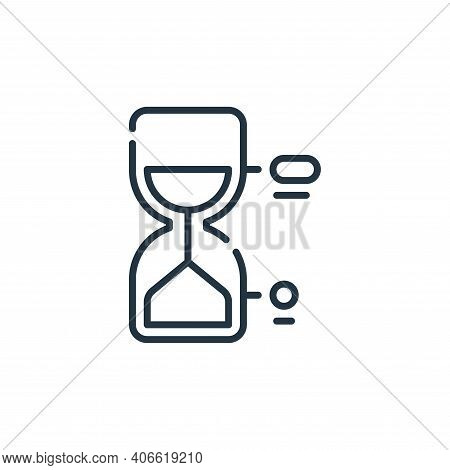 hourglass icon isolated on white background from life skills collection. hourglass icon thin line ou