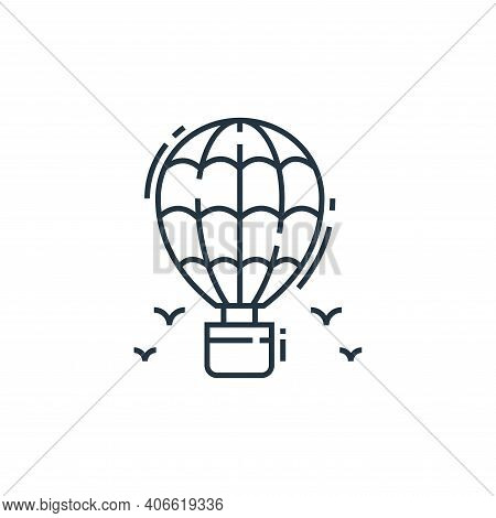 hot air balloon icon isolated on white background from environment and eco collection. hot air ballo