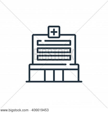 hospital icon isolated on white background from maternity collection. hospital icon thin line outlin