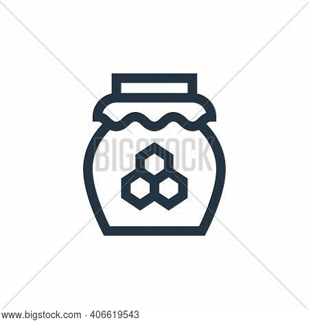 honey icon isolated on white background from alternative medicine collection. honey icon thin line o