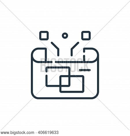 hologram icon isolated on white background from robotics collection. hologram icon thin line outline