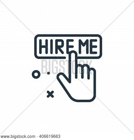Hire icon isolated on white background from work from home collection. Hire icon thin line outline l