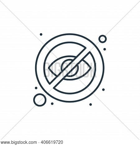 hidden icon isolated on white background from islam and ramadan collection. hidden icon thin line ou