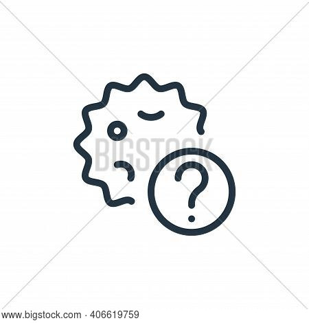 help icon isolated on white background from coronavirus collection. help icon thin line outline line