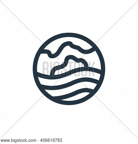 heat wave icon isolated on white background from climate change collection. heat wave icon thin line