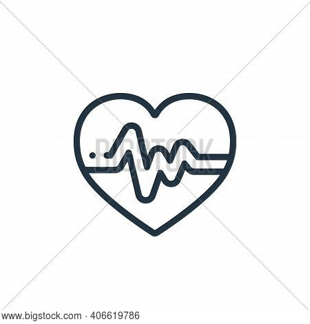 heart rate icon isolated on white background from medicine collection. heart rate icon thin line out