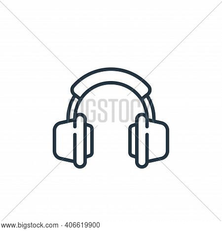 headphones icon isolated on white background from music collection. headphones icon thin line outlin