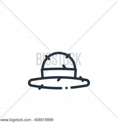hat icon isolated on white background from in the village collection. hat icon thin line outline lin