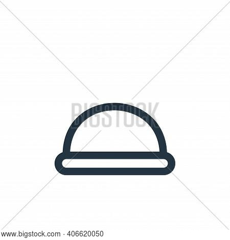hard hat icon isolated on white background from landscaping equipment collection. hard hat icon thin