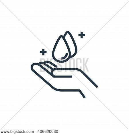 hand washing icon isolated on white background from wash hands collection. hand washing icon thin li