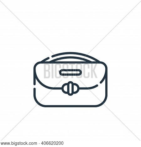 handbag icon isolated on white background from hippies collection. handbag icon thin line outline li