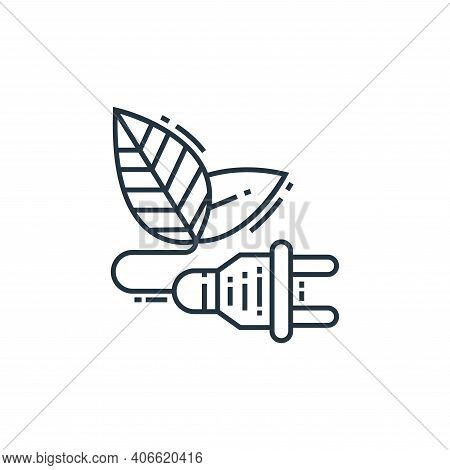 green energy icon isolated on white background from environment and eco collection. green energy ico