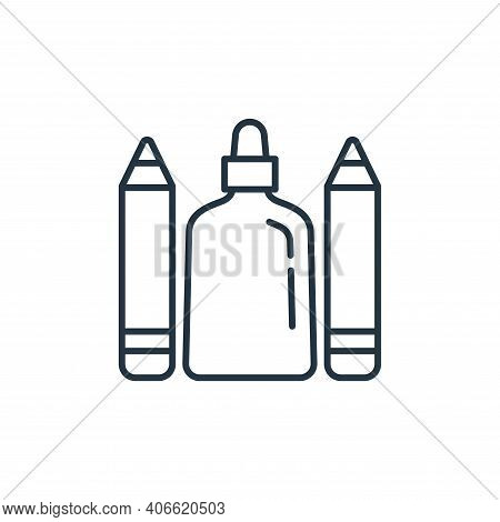 glue icon isolated on white background from stationery collection. glue icon thin line outline linea