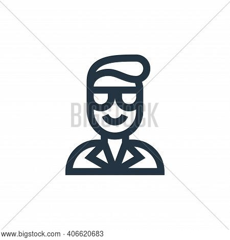 glass icon isolated on white background from people collection. glass icon thin line outline linear