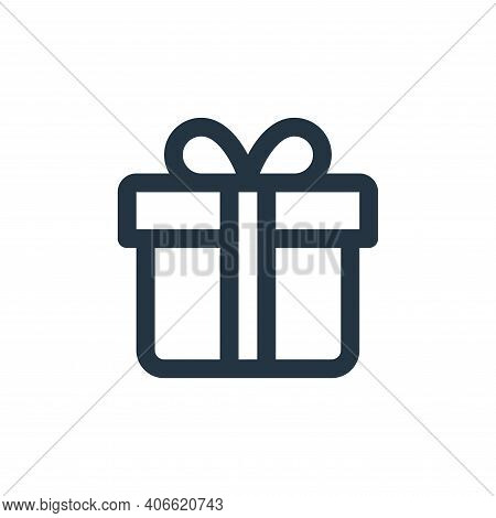gift icon isolated on white background from user interface collection. gift icon thin line outline l