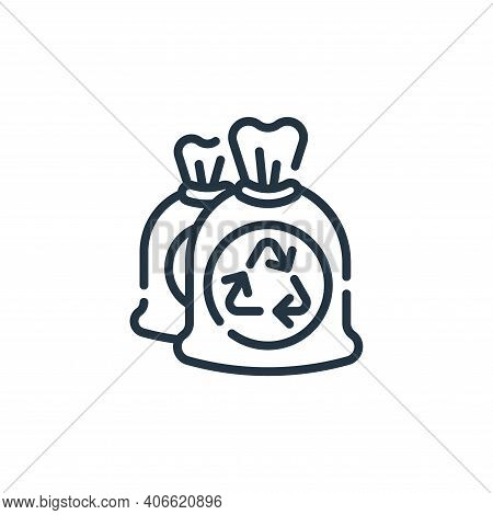 garbage bag icon isolated on white background from cleaning collection. garbage bag icon thin line o