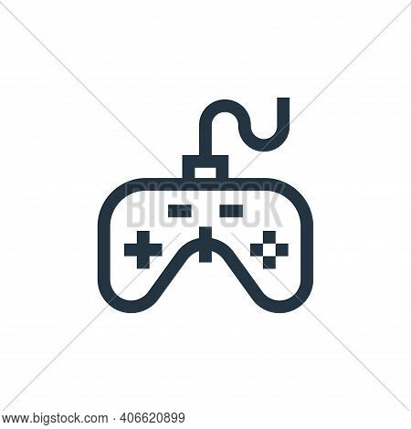 gamepad icon isolated on white background from hobbies collection. gamepad icon thin line outline li