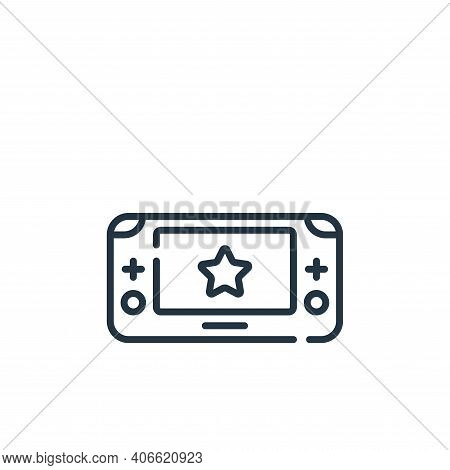 game console icon isolated on white background from children toys collection. game console icon thin