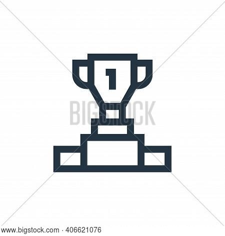 football icon isolated on white background from soccer collection. football icon thin line outline l