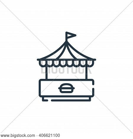 food stand icon isolated on white background from circus collection. food stand icon thin line outli