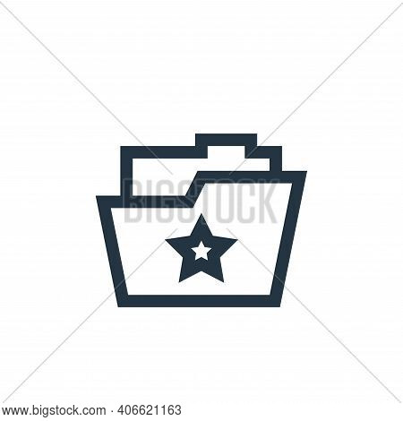 folder icon isolated on white background from feedback and testimonials collection. folder icon thin
