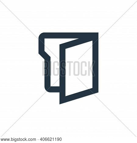 folder icon isolated on white background from office stationery collection. folder icon thin line ou