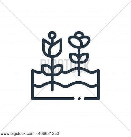 flowers icon isolated on white background from in the village collection. flowers icon thin line out