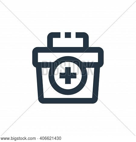 first aid kit icon isolated on white background from medical kit collection. first aid kit icon thin