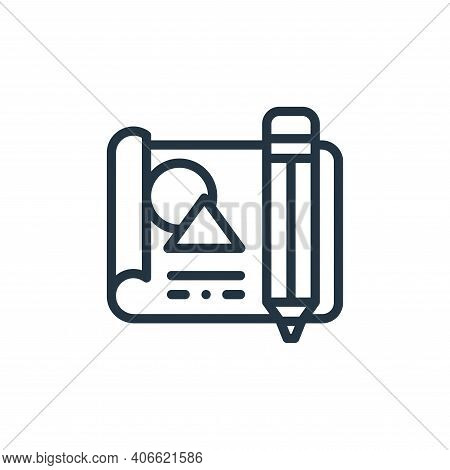 file icon isolated on white background from design thinking collection. file icon thin line outline
