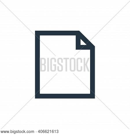file icon isolated on white background from email collection. file icon thin line outline linear fil