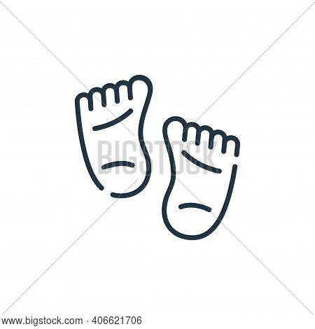 feet icon isolated on white background from maternity collection. feet icon thin line outline linear