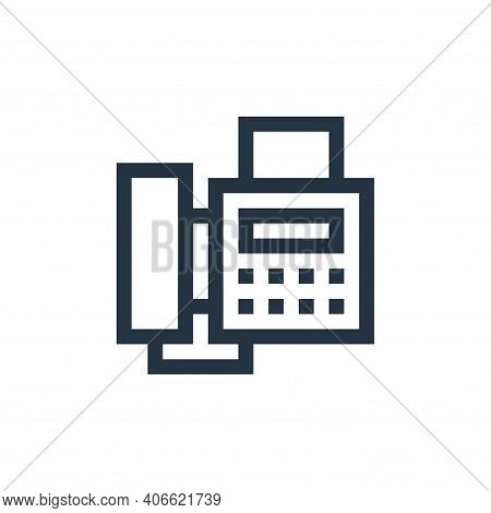fax icon isolated on white background from job resume collection. fax icon thin line outline linear