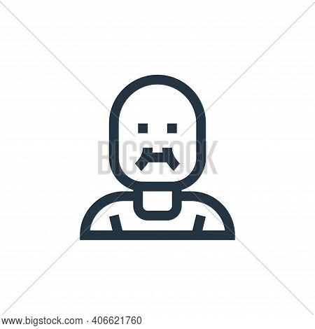 fat icon isolated on white background from people collection. fat icon thin line outline linear fat