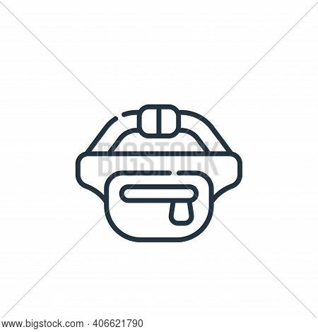 fanny pack icon isolated on white background from reggae collection. fanny pack icon thin line outli