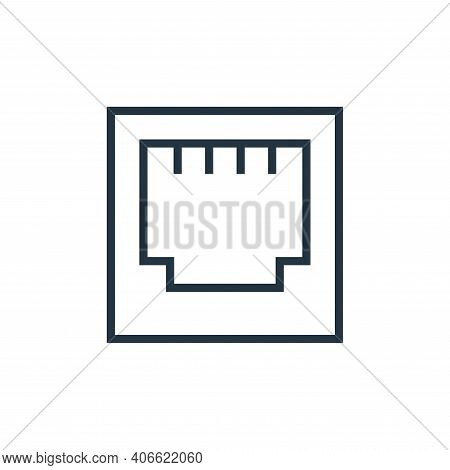 ethernet icon isolated on white background from hardware collection. ethernet icon thin line outline