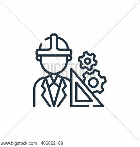 engineer icon isolated on white background from industrial process collection. engineer icon thin li
