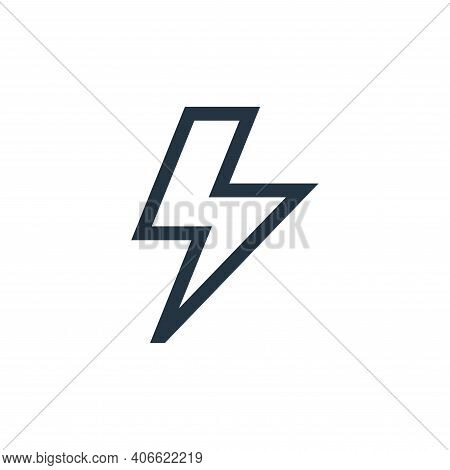 energy icon isolated on white background from video game elements collection. energy icon thin line