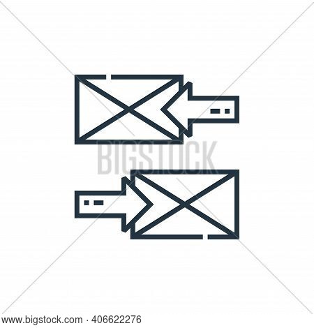 email icon isolated on white background from marketing collection. email icon thin line outline line