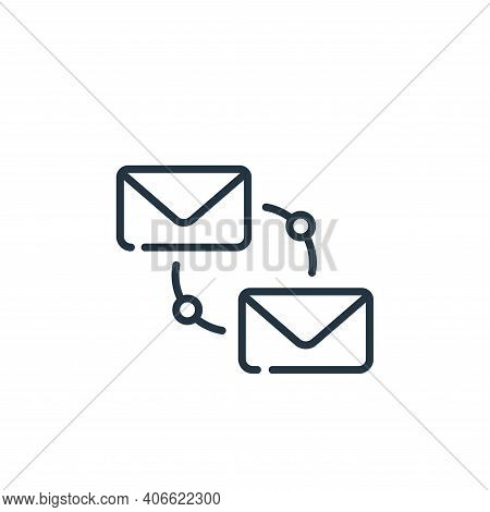 email icon isolated on white background from telecommuting collection. email icon thin line outline
