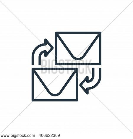 email icon isolated on white background from branding collection. email icon thin line outline linea