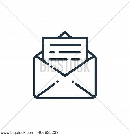 email icon isolated on white background from online learning collection. email icon thin line outlin