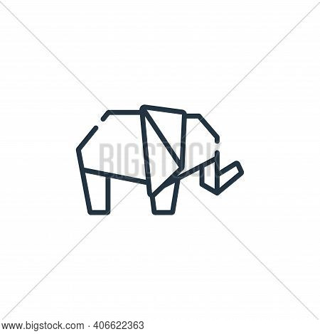 elephant icon isolated on white background from free time collection. elephant icon thin line outlin