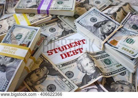 Student Loan Debt Trap With Tuition Fees Compounding In Interest From High Interest Loan Rates On Th