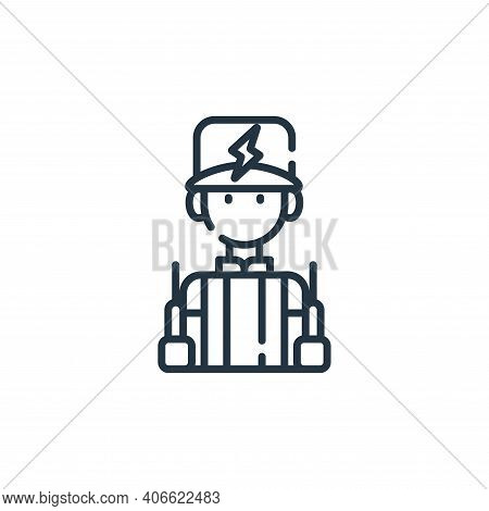 electrician icon isolated on white background from electrician tools and elements collection. electr