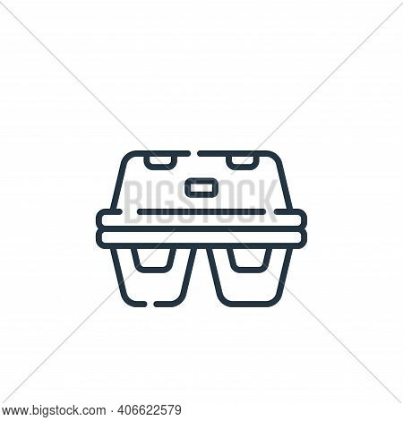 egg carton icon isolated on white background from plastic products collection. egg carton icon thin