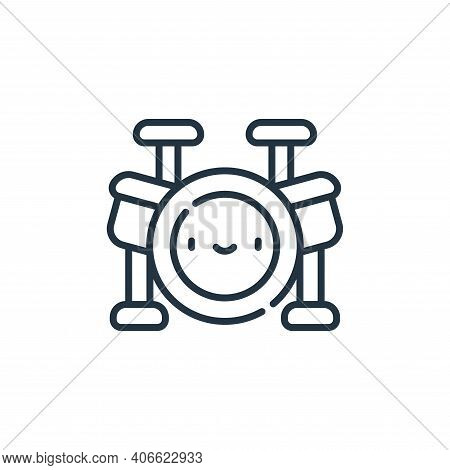 drums icon isolated on white background from reggae collection. drums icon thin line outline linear