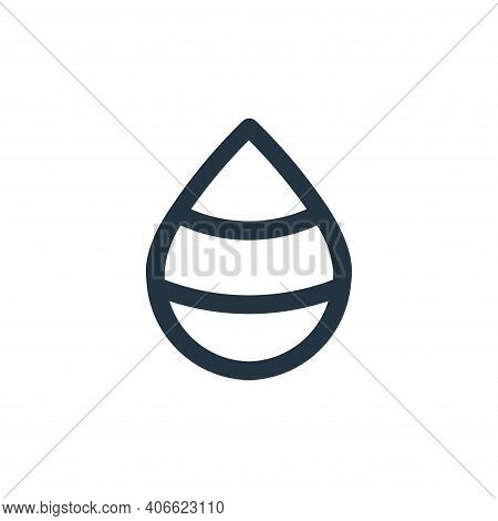 drop icon isolated on white background from user interface collection. drop icon thin line outline l