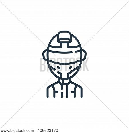 driver icon isolated on white background from auto racing collection. driver icon thin line outline
